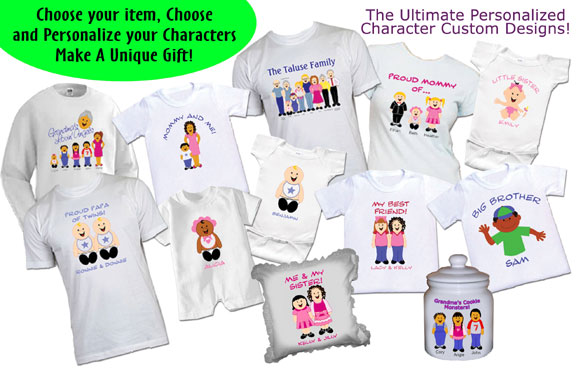 Design your own custom personalized clothing, t-shirts and gifts